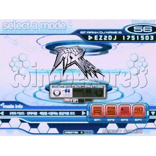 EZ 2 DJ Azure Expression machine 29233