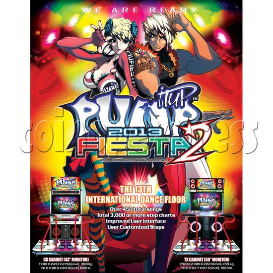 Pump It Up Fiesta 2 2013 Arcade Edition Software Upgrade Kit 29839