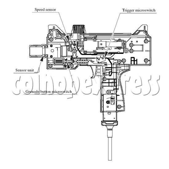 Gun set for House Of Dead 4 Sega 515-50-310 30084