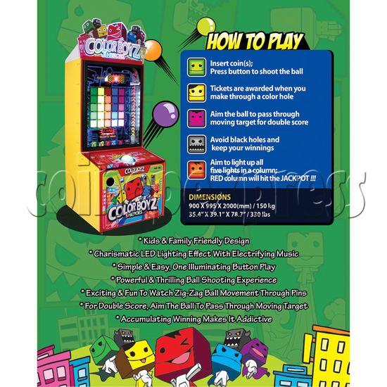 Color Boyz Thrilling Ball Redemption Machine 30642