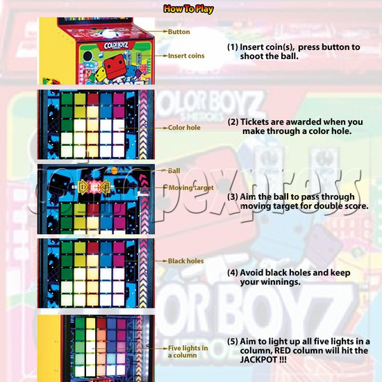 Color Boyz Thrilling Ball Redemption Machine 30643