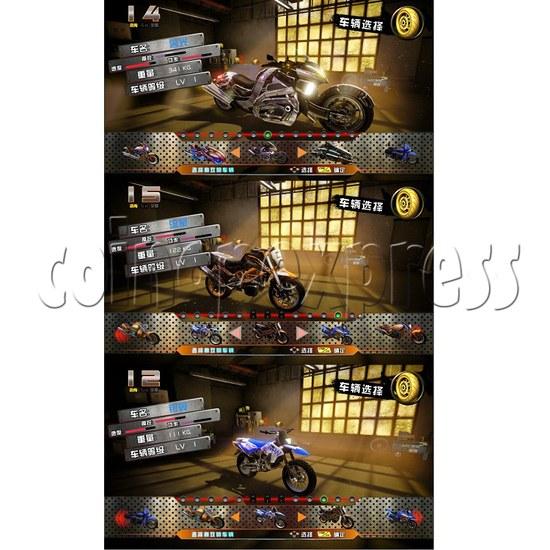 Crazy Motor Racing Game Machine 30674