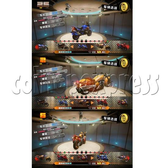 Crazy Motor Racing Game Machine 30676