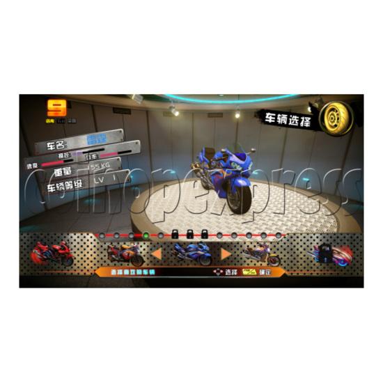 Crazy Motor Racing Game Machine 30677