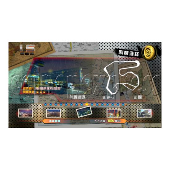 Crazy Motor Racing Game Machine 30683