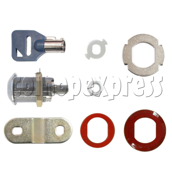 Circle Type Metal Door Lock With Key (28mm) 30785