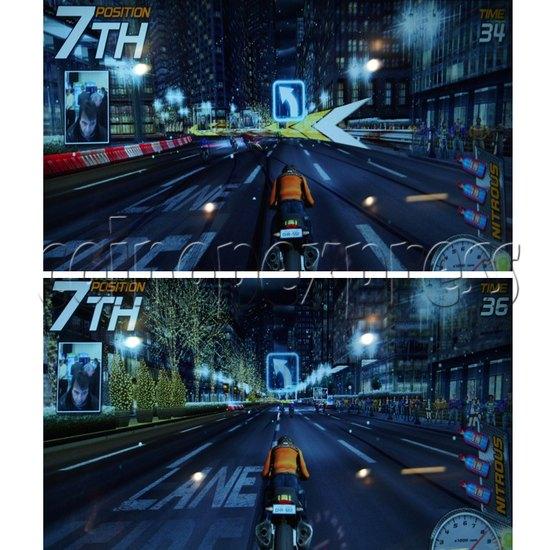 Dead Heat Rider - Twin Motorcycle Racing Video Arcade Game 30887