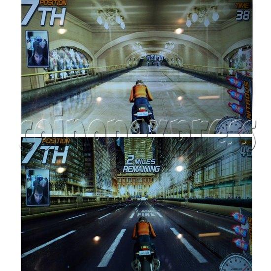 Dead Heat Rider - Twin Motorcycle Racing Video Arcade Game 30888