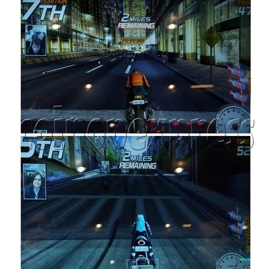 Dead Heat Rider - Twin Motorcycle Racing Video Arcade Game 30889