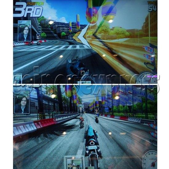 Dead Heat Rider - Twin Motorcycle Racing Video Arcade Game 30890
