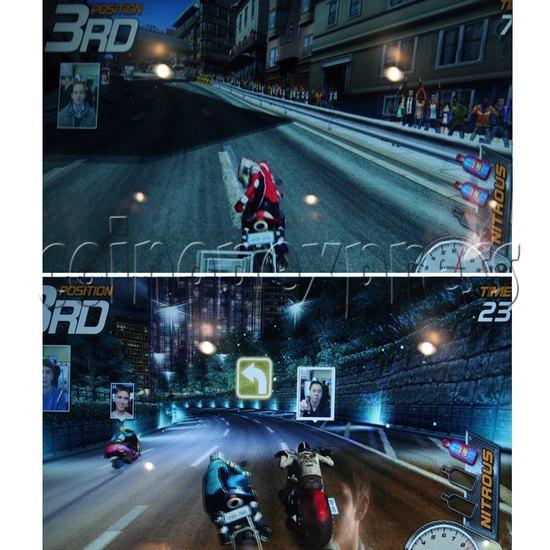 Dead Heat Rider - Twin Motorcycle Racing Video Arcade Game 30891