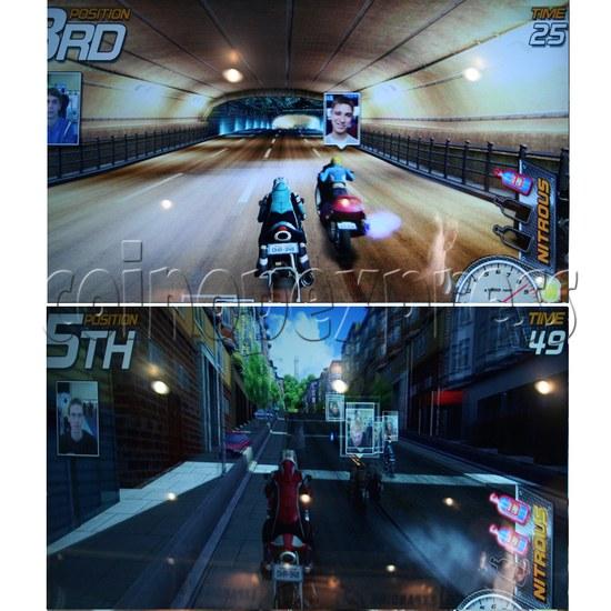 Dead Heat Rider - Twin Motorcycle Racing Video Arcade Game 30892