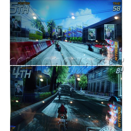 Dead Heat Rider - Twin Motorcycle Racing Video Arcade Game 30893