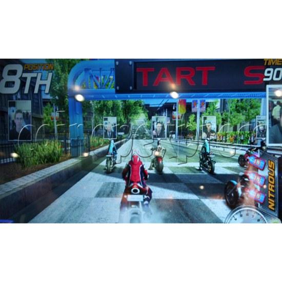 Dead Heat Rider - Twin Motorcycle Racing Video Arcade Game 30894