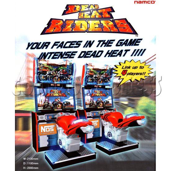 Dead Heat Rider - Twin Motorcycle Racing Video Arcade Game 30895