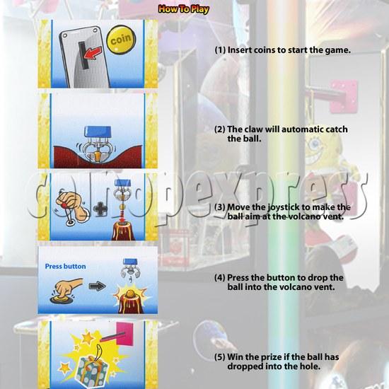 Alien Attack Grab Ball Prize Machine 30954