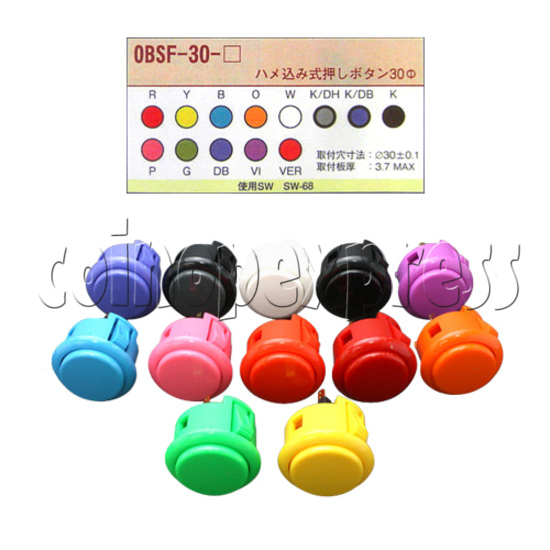 Sanwa Push Button 33mm (OBSF-30) 31290