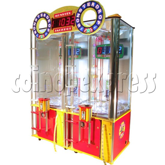 Monster Drop Ticket Redemption Arcade Machine 2 Players - angle view