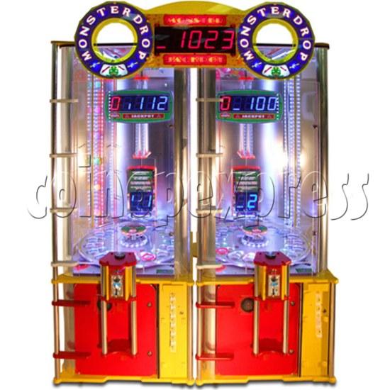 Monster Drop Ticket Redemption Arcade Machine 2 Players - front view