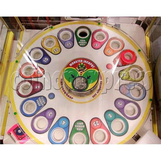 Monster Drop Ticket Redemption Arcade Machine 2 Players - score turntable