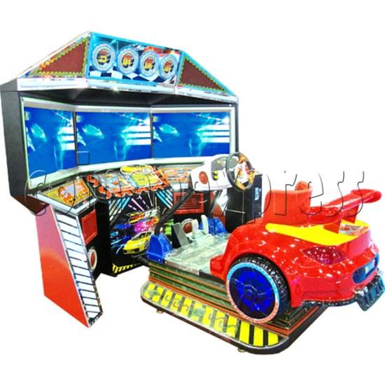3D Triple Screen Car Racing Simulator 32024