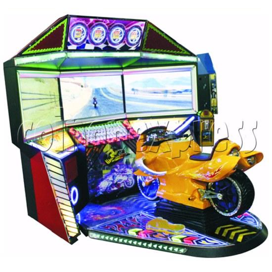 3D Triple Screen Motorbike Racing Simulator 32027