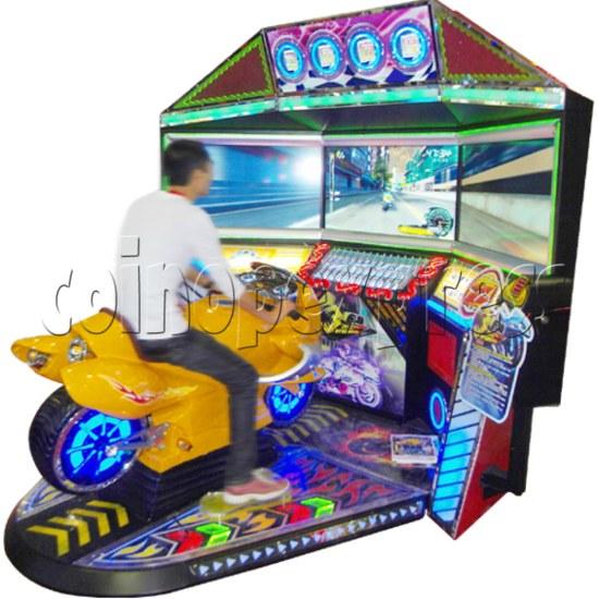 3D Triple Screen Motorbike Racing Simulator 32028