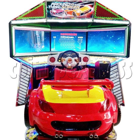 3D Triple Screen Car Racing Simulator 32413