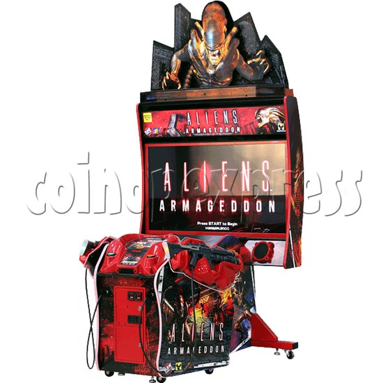 Aliens Armageddon Deluxe Shooting Arcade Machine 32793