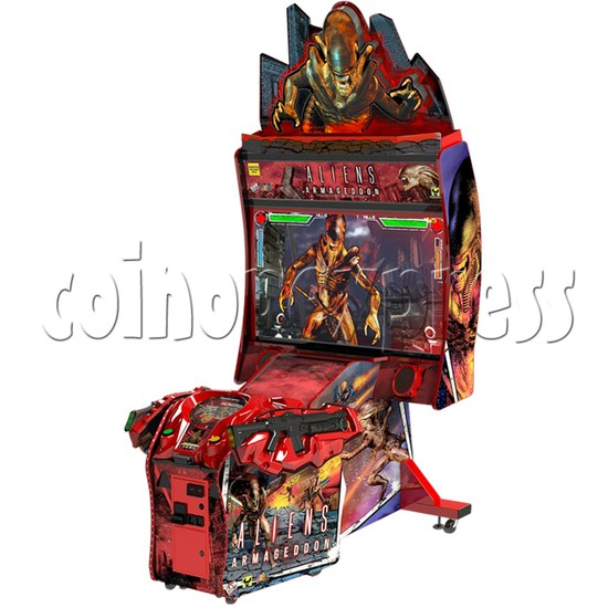 Aliens Armageddon Deluxe Shooting Arcade Machine  32795