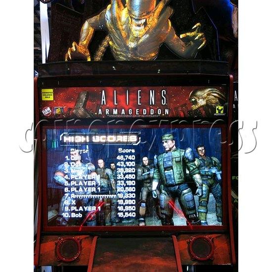 Aliens Armageddon Deluxe Shooting Arcade  Machine  32799