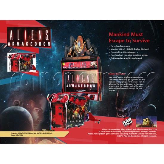 Aliens Armageddon Deluxe Shooting Arcade Machine  32800