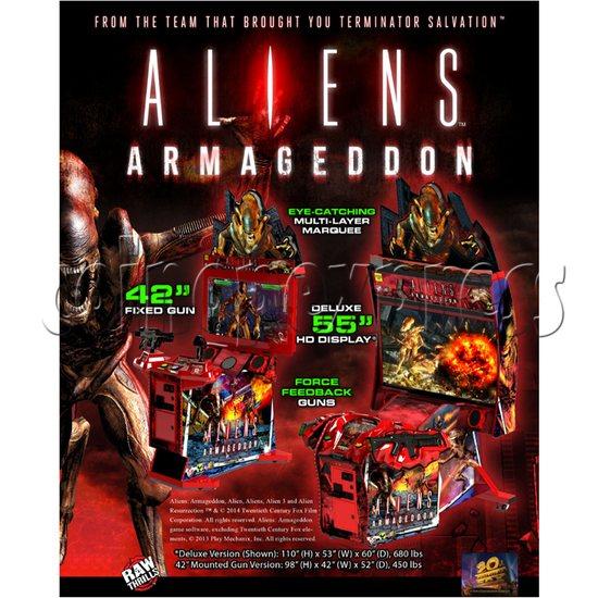 Aliens Armageddon Deluxe Shooting Arcade  Machine  32801