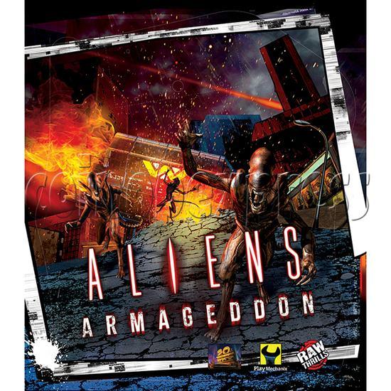 Aliens Armageddon Deluxe Shooting Arcade  Machine  32802