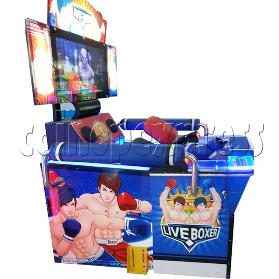 """Punch Machine: 32"""" LCD live boxing 32854"""