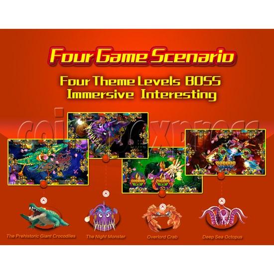 Ocean King 2 Fish Hunter Machine - Monster's Revenge PCB Kit - four game scenario