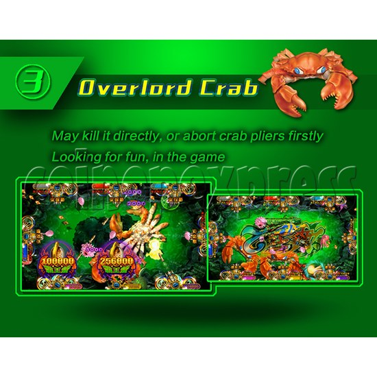 Ocean King 2 Fish Hunter Machine - Monster's Revenge PCB Kit - Overlord crab