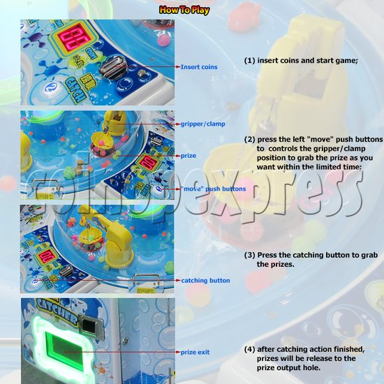 Water Dream Catcher with mini crane machine (4 players) 33445
