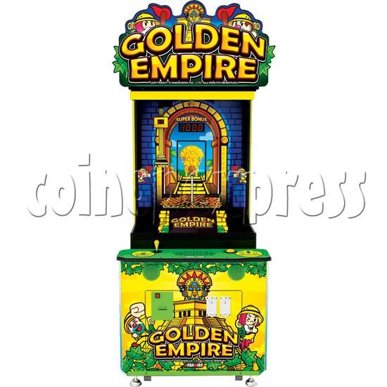 Golden Empire Coin Pusher Ticket Redemption Arcade Machine - front view 1