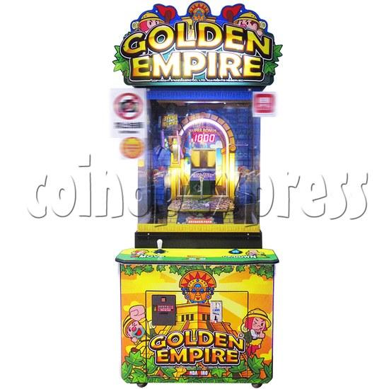 Golden Empire Coin Pusher Ticket Redemption Arcade Machine - front view 2
