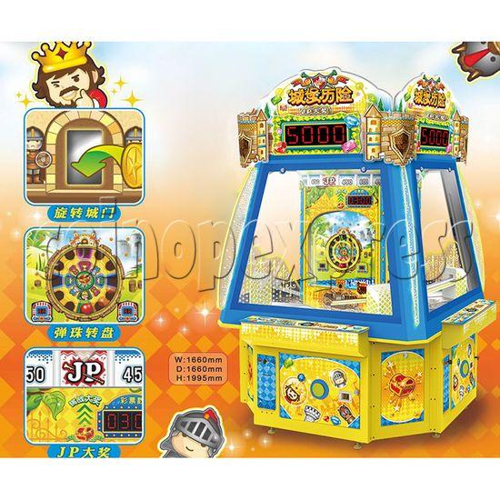 Adventure Castle Ticket Redemption Arcade Game Machine 4 Players 34072