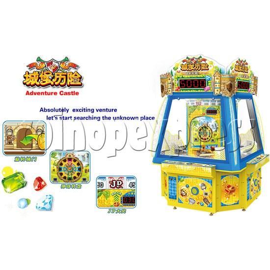 Adventure Castle Ticket Redemption Arcade Game Machine 4 Players 34073