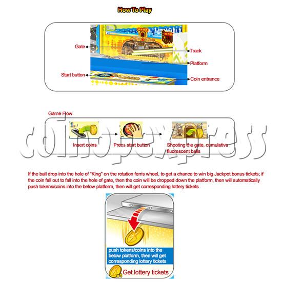 Adventure Castle Ticket Redemption Arcade Game Machine 4 Players 34074