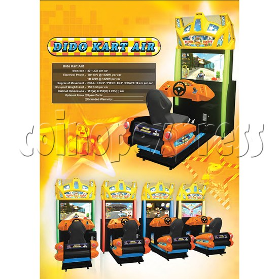 Dido Kart Air Kid Simulator Video Racing Game Machine 34123