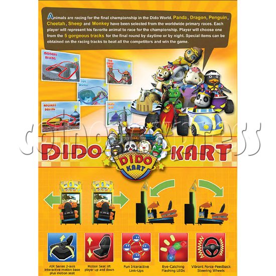 Dido Kart Air Kid Simulator Video Racing Game Machine 34124