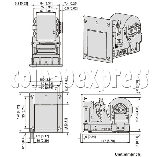 Thermal Printer for fish game machine 34461