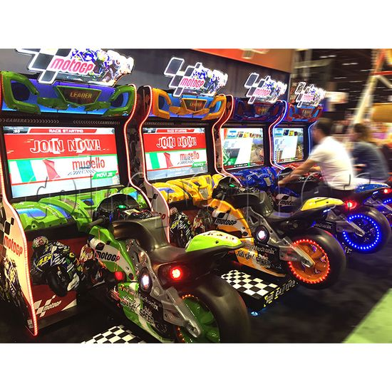 Motogp Video Arcade Racing Machine With 42 Inch Lcd Screen