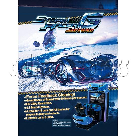 Storm Racer G Deluxe Arcade Machine 34592