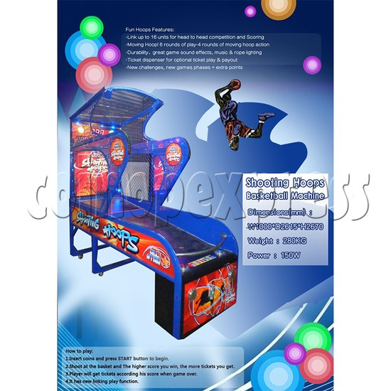 Shooting Hoops basketball machine 34614