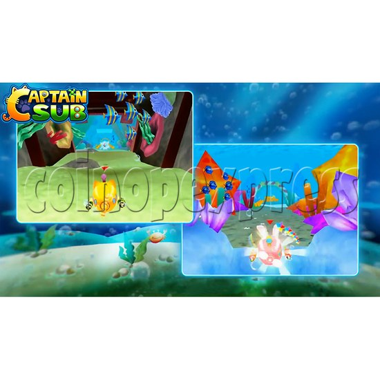 Captain Sub Motion Video Kiddie Ride 34887